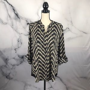 NWT Chico's zig zag geo Campbell II blouse